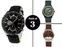 Pack of 3 Elegant Men's Watches in Pakistan