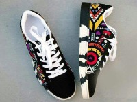 Multicolor Pattern Design Casual Shoes in Pakistan