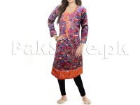 Multicolor Embroidered Cotton Kurti with Tights in Pakistan