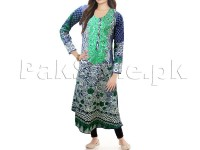 Multicolor Embroidered Cotton Frock with Tight in Pakistan