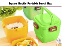 Square Buckle Portable Lunch Box in Pakistan