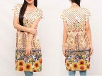 Digital Print Sleeveless Kurti with Tights in Pakistan