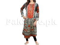 Multicolor Embroidered Cotton Frock with Tights in Pakistan