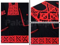 3-Pieces Sindhi Handicraft Aplic Work Cotton Suit in Pakistan