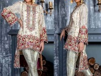 Heavy Embroidered White Chiffon Dress in Pakistan