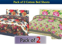 Pack of 2 Polyester Cotton Bed Sheets of Your Choice in Pakistan