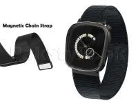 Men's Down Second Magnetic Chain Watch - Black in Pakistan