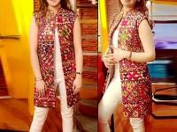 Embroidered Masoori Dress with Mirror Work in Pakistan