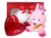 Love Perfume with Teddy Bear Gift Set in Pakistan