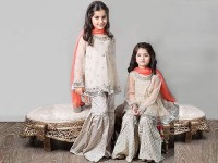 Embroidered White Chiffon Suit For Girls in Pakistan