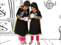 Embroidered Black Chiffon Suit For Girls in Pakistan
