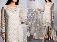 Heavy Embroidered Net Dress with Jamawar Trouser in Pakistan