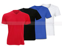 4 V-Neck Half Sleeves T-Shirts Price in Pakistan