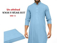 Wash N Wear Un-Stitched Men's Suit WW-13 in Pakistan