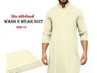 Wash N Wear Un-Stitched Men's Suit WW-14 in Pakistan