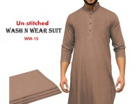 Wash N Wear Un-Stitched Men's Suit WW-15 in Pakistan