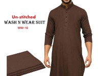 Wash N Wear Un-Stitched Men's Suit WW-16 in Pakistan