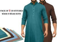 Pack of 2 Un-Stitched Mens Suits of Your Choice in Pakistan
