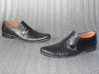 Dotted Design Men's Black Formal Shoes Price in Pakistan
