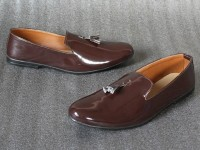 Glossy Leather Brown Formal Loafer Shoes Price in Pakistan