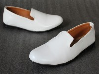 Glossy Leather White Formal Loafer Shoes Price in Pakistan