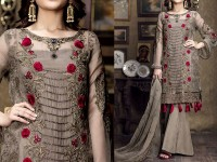 Designer Embroidered Chiffon Dress with Chiffon Dupatta Price in Pakistan