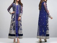 Gown Style Heavy Embroidered Chiffon Dress in Pakistan