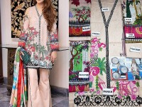Embroidered Lawn Dress with Lawn Net Dupatta Price in Pakistan