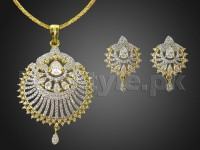 AD Stone Pendant Jewelry Set Price in Pakistan