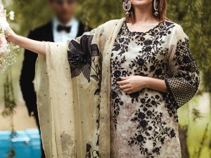 Beads Handwork Embroidery Skin Net Dress Price in Pakistan