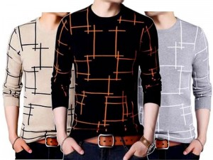 Pack of 3 Lining Print T-Shirts Price in Pakistan