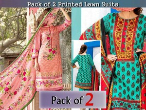 Pack of 2 VS Classic Lawn Suits Price in Pakistan