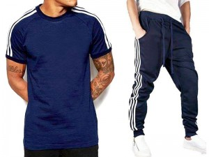 Combo of 2 Men's T-Shirt with Trouser - Blue Price in Pakistan