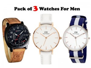 Combo Pack of 3 Men's Watches Price in Pakistan