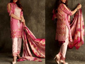 Libas Embroidered Lawn Dress LS-1B Price in Pakistan