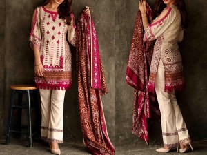 Libas Embroidered Lawn Dress LS-3A Price in Pakistan