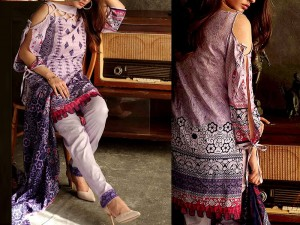 Libas Embroidered Lawn Dress LS-3B Price in Pakistan