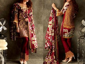 Libas Embroidered Lawn Dress LS-4B Price in Pakistan