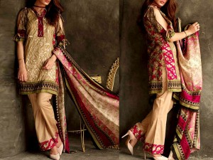 Libas Embroidered Lawn Dress LS-6A Price in Pakistan