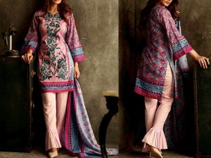 Libas Embroidered Lawn Dress LS-6B Price in Pakistan