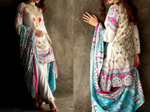 Libas Embroidered Lawn Dress LS-7A Price in Pakistan