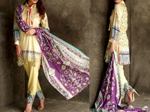 Libas Embroidered Lawn Dress LS-7B Price in Pakistan