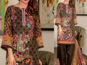 Rashid Classic Lawn 2018 with Lawn Dupatta 206-B Price in Pakistan