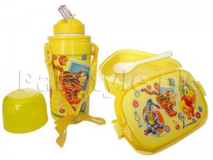 Kids School Thermos & Lunch Box Set - Yellow Price in Pakistan
