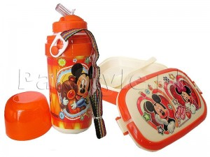 Kids School Thermos & Lunch Box Set - Orange Price in Pakistan