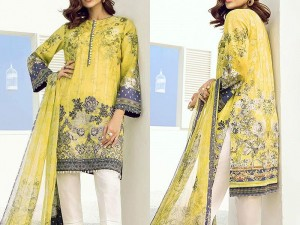 Embroidered Lawn Dress with Printed Lawn Dupatta Price in Pakistan