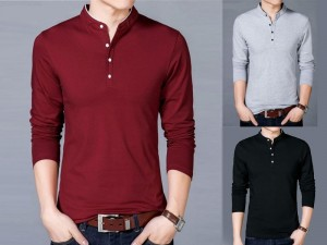 Pack of 3 Round Collar Full Sleeves T-Shirts Price in Pakistan
