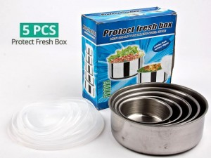 Stainless Steel 5 Food Containers with Lids Price in Pakistan