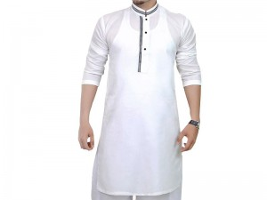 Men's Readymade Wash-N-Wear Kurta - White Price in Pakistan