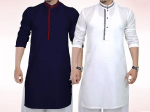 Pack of 2 Men's Readymade Wash-N-Wear Kurtas Price in Pakistan